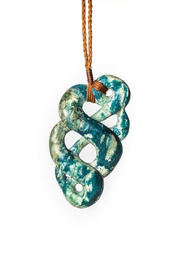 aotea, organic twist, gemstone, stone pendant, pounamu